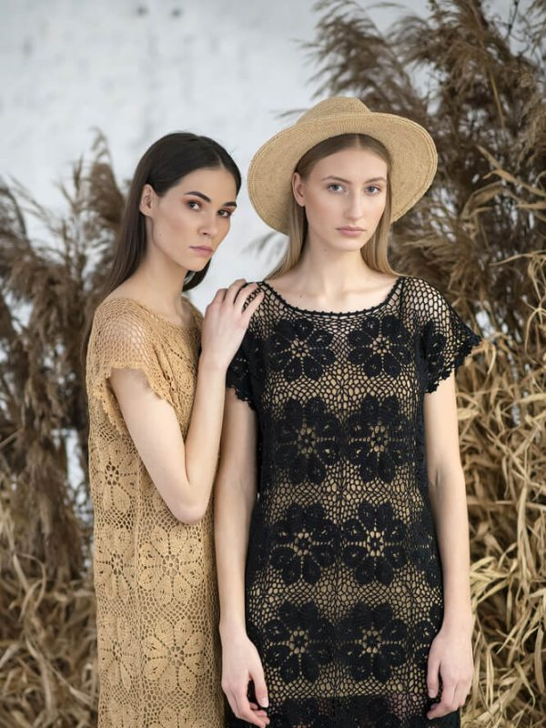 Oversized floral patterned midi dress