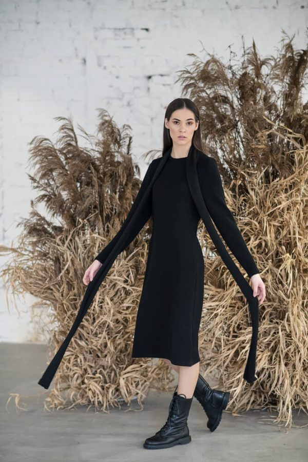 Long sleeve midi dress - 8