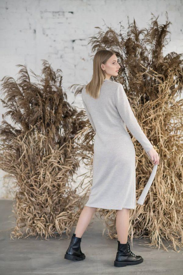 Long sleeve midi dress - 6