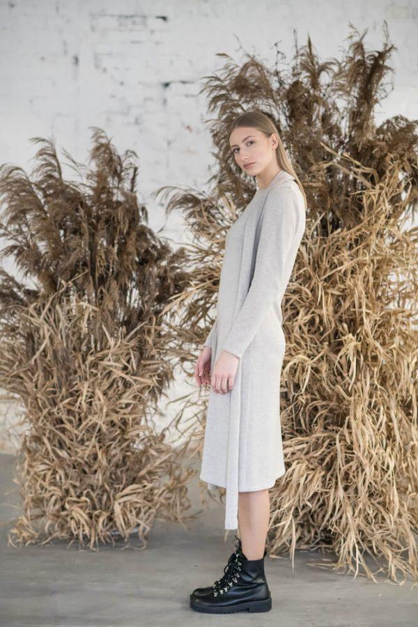Long sleeve midi dress - 5