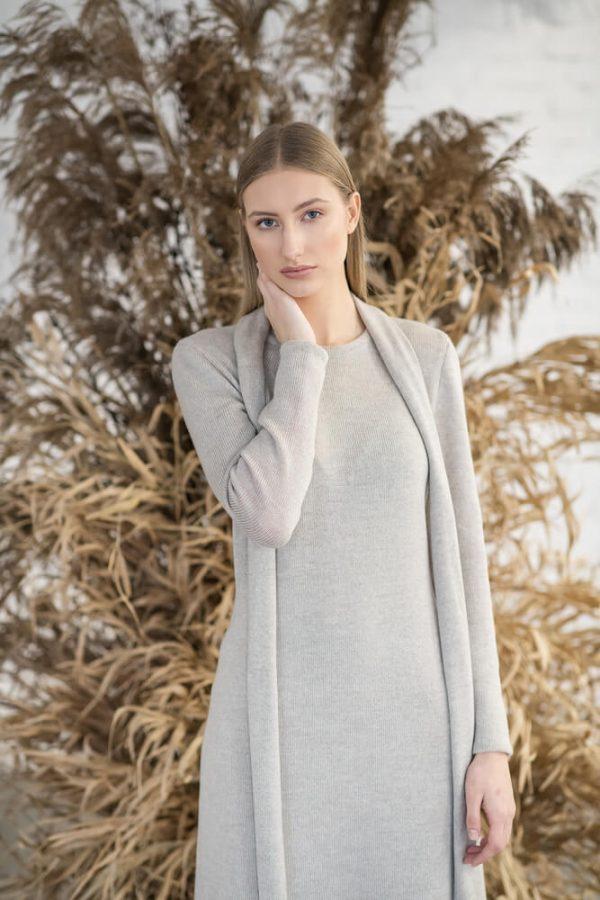 Long sleeve midi dress - 4