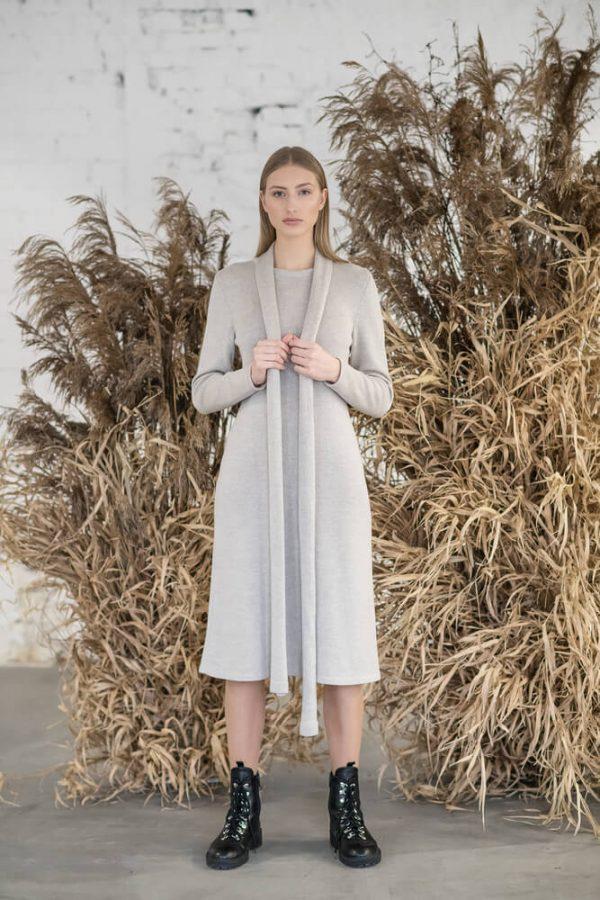 Long sleeve midi dress - 2